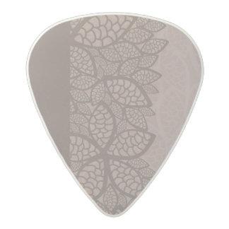Leaf pattern border and background acetal guitar pick
