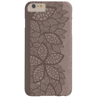 Leaf pattern border and background barely there iPhone 6 plus case