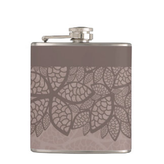 Leaf pattern border and background flask
