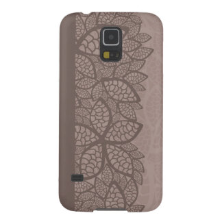 Leaf pattern border and background galaxy s5 cover