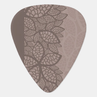 Leaf pattern border and background guitar pick