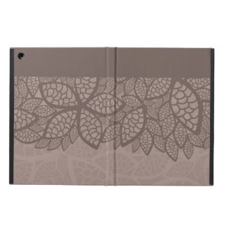 Leaf pattern border and background iPad air cover
