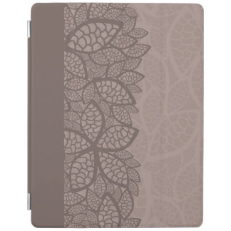 Leaf pattern border and background iPad cover