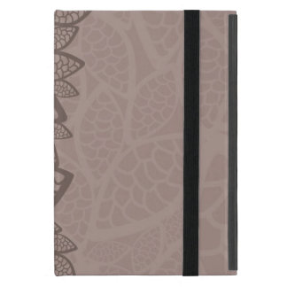 Leaf pattern border and background iPad mini case