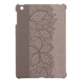 Leaf pattern border and background iPad mini case