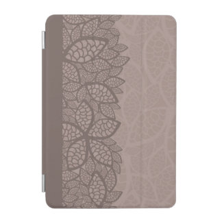 Leaf pattern border and background iPad mini cover
