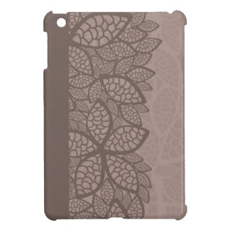 Leaf pattern border and background iPad mini covers