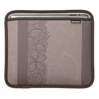 Leaf pattern border and background iPad sleeve