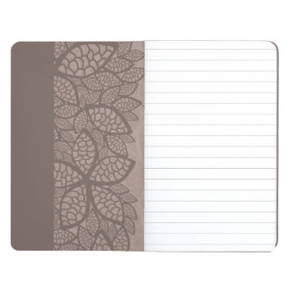 Leaf pattern border and background journal