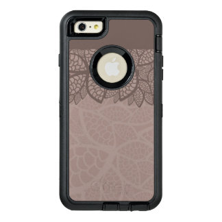 Leaf pattern border and background OtterBox defender iPhone case