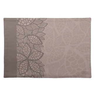 Leaf pattern border and background placemat