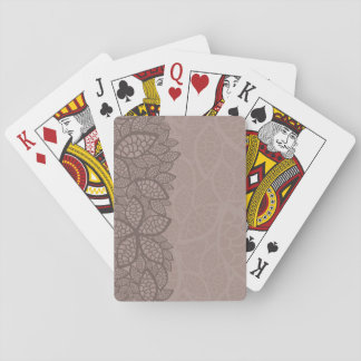 Leaf pattern border and background playing cards