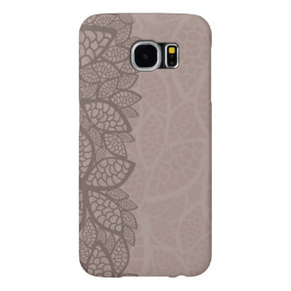 Leaf pattern border and background samsung galaxy s6 cases