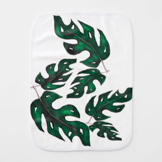 leaf pattern burp cloth