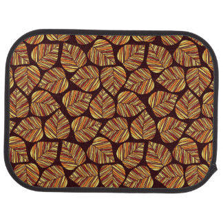 Leaf pattern car mat