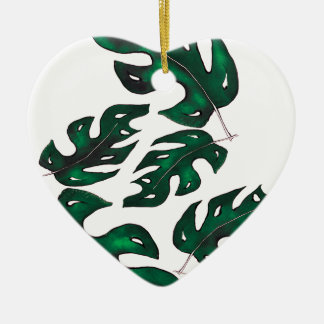 leaf pattern christmas ornament