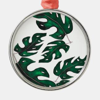leaf pattern christmas ornament