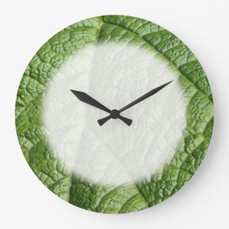 Leaf Pattern Design. Large Clock