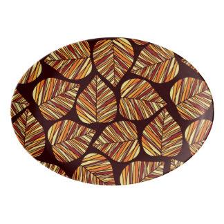 Leaf pattern porcelain serving platter