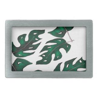 leaf pattern rectangular belt buckle