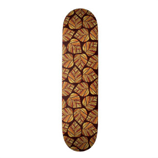 Leaf pattern skateboard decks