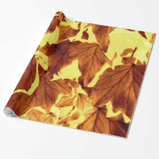 Leaf pattern wrapping paper. wrapping paper