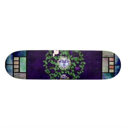 Leaf Pentagram With Moon Custom Skateboard