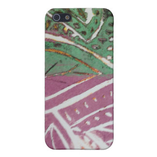 Leaf Print iPhone 5/5S Matte Finish Case Case For The iPhone 5