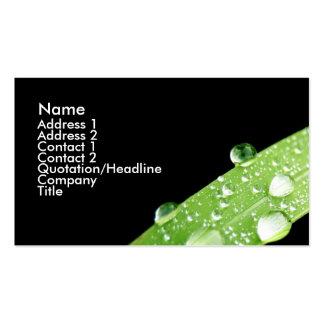 Leaf Rain Drops Business Card