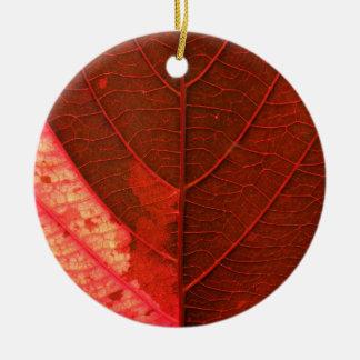 Leaf Round Ceramic Decoration