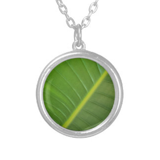 leaf silver plated necklace