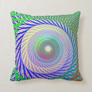 Leaf Spin Pastel Throw Pillow