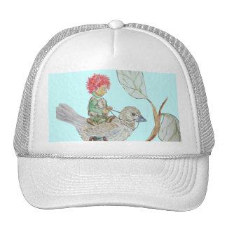 Leaf Sprite Rides a Sparrow Cap