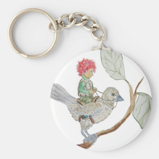 Leaf Sprite Rides a Sparrow Key Chains