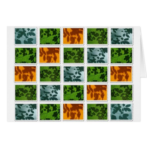 Leaf Stamp Print Greeting Card