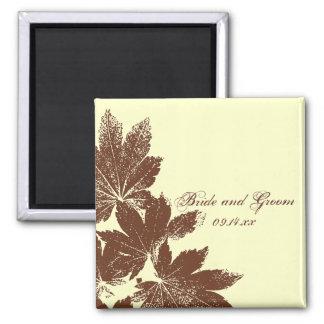 Leaf Stamp Wedding Magnet