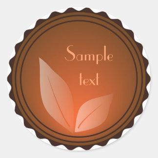 Leaf Sticker Round Sticker