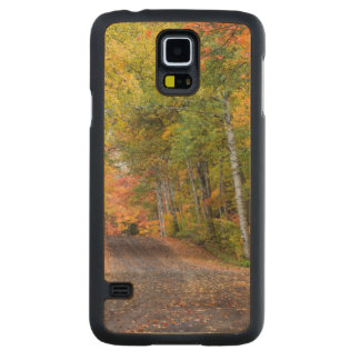 Leaf Strewn Gravel Road With Autumn Color Carved Maple Galaxy S5 Case