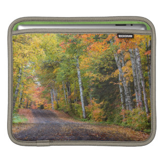Leaf Strewn Gravel Road With Autumn Color iPad Sleeve