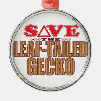 Leaf-Tailed Gecko Save Christmas Ornament