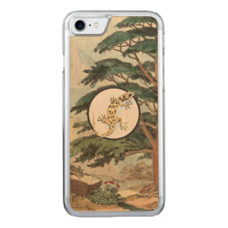 Leaf-Toed Gecko In Natural Habitat Illustration Carved iPhone 8/7 Case