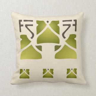 Leaf Trio Stencil Cushion