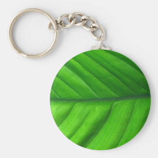 Leaf Up Close Basic Round Button Key Ring