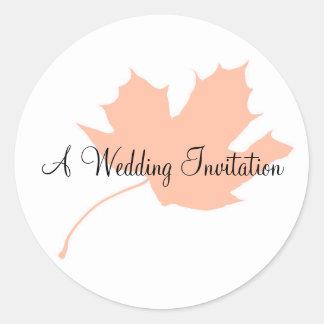 Leaf Wedding Stickers