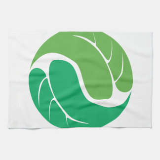Leaf Yin Yang Tea Towel
