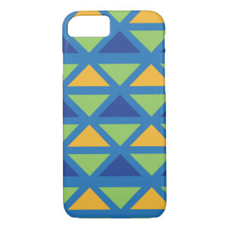 Leafgreen, Blue & Canary Aztec Pattern iPhone 8/7 Case