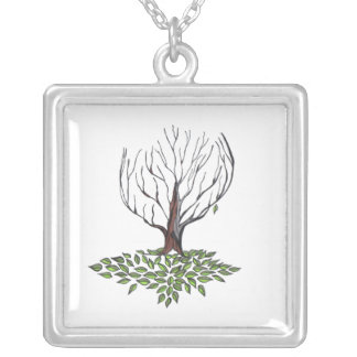 Leafless...Necklace... Silver Plated Necklace