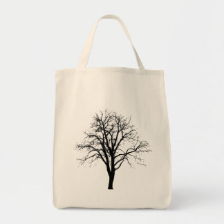 Leafless Tree In Winter Silhouette Bag