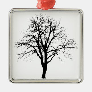 Leafless Tree In Winter Silhouette Christmas Ornament