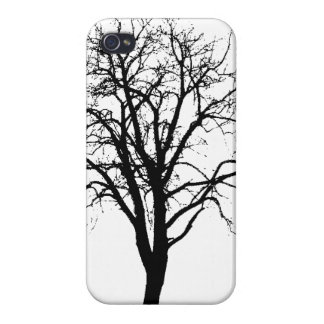 Leafless Tree In Winter Silhouette Cases For iPhone 4